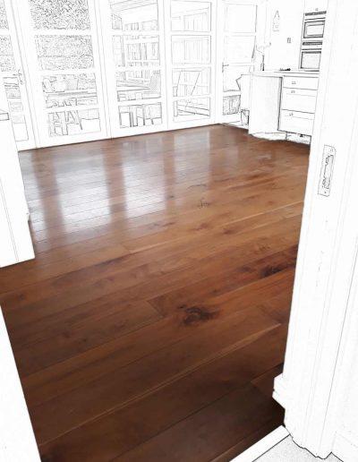 Floor Sander Before - Blackrock Dublin