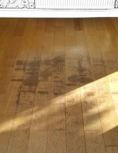 Floor Sanding Before - Delgany Wicklow