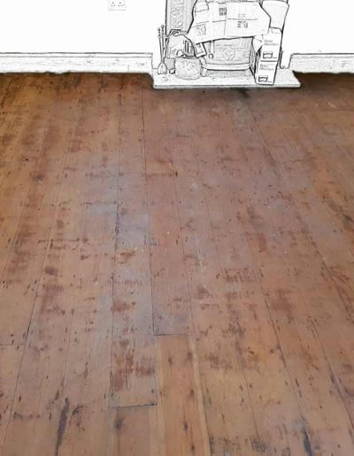 Floor Sanding Before - Rathmichael Dublin